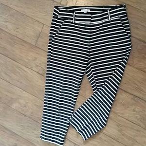 Loft striped ankle pants